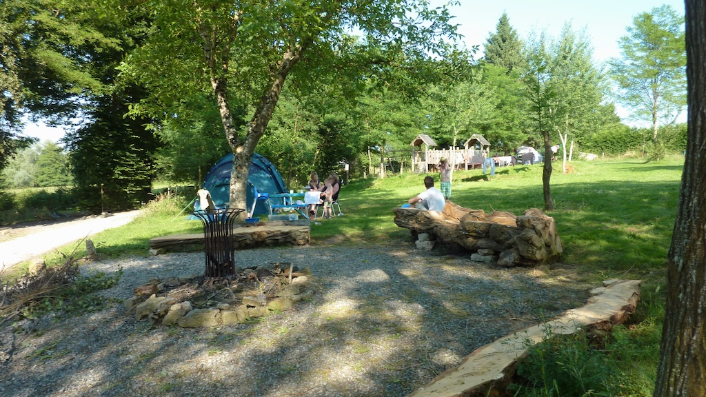 Large campfire area