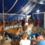 Circus kijken op de camping