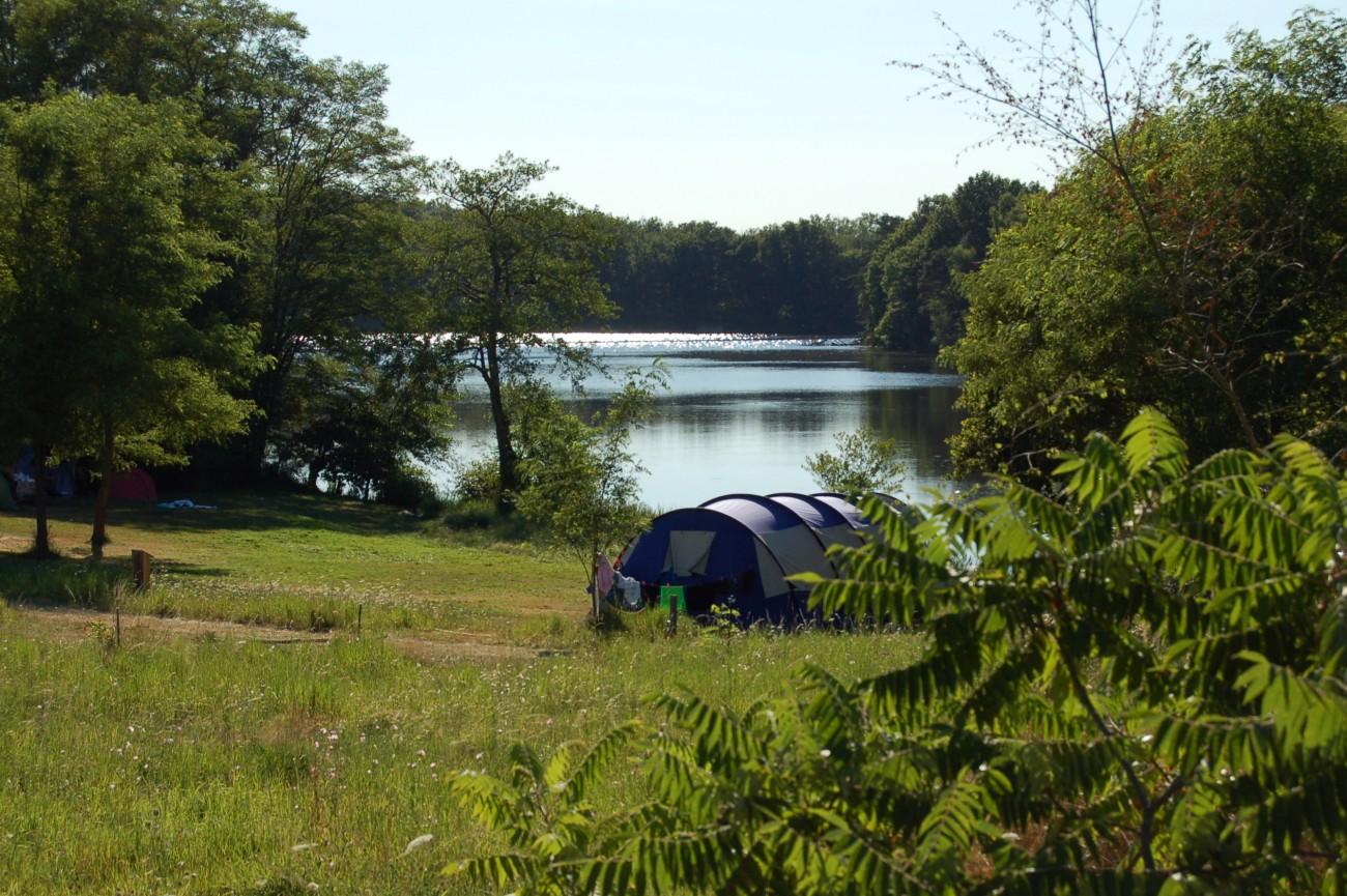 kleine camping met uitzicht